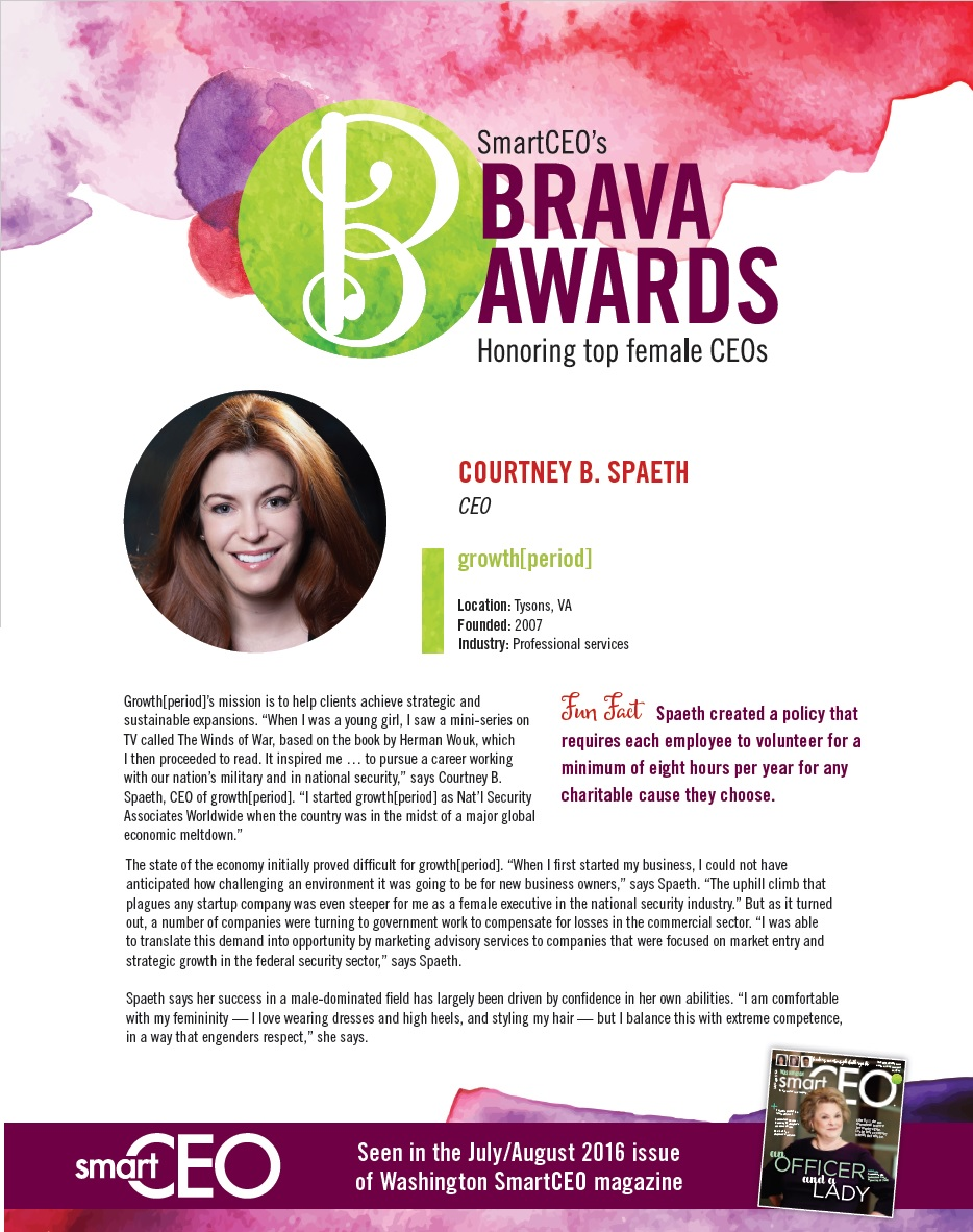 CEO Courtney Spaeth's SmartCEO Brava Award